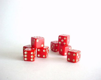 1950's BakeLite Dice - 2 Sets of 4  (8 Dice Included In The LOT)