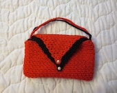 Evening Bag or clutch - Reversible Black and Red - onhooksandneedlesct