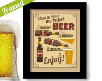 Bar Sign Beer Gift Art Bar Art Pub Decor Kitchen Art Framed Sign