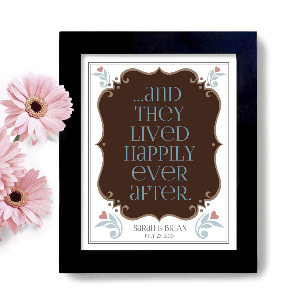 Happily Ever After Wedding Gift Unique Personalized By DexMex