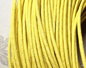 2 mm Yellow Color Cotton Cord (.sah)