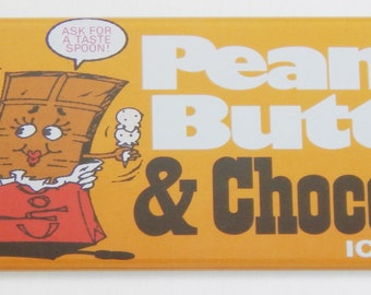 Peanut Butter and Chocolate Ice Cream Fridge Magnet