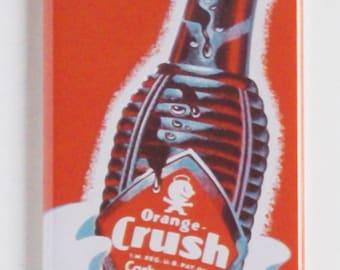 Orange Crush Sign Fridge Magnet
