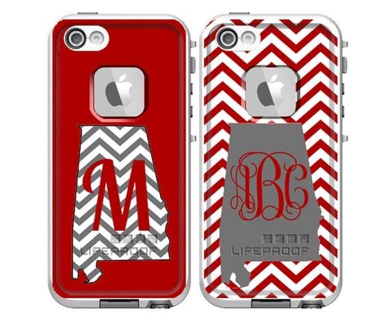 Monogrammed Iphone  Lifeproof Case