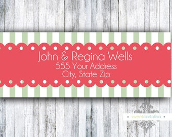 Return Address Labels - Stickers - Scallops