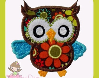 Owl  Applique  design