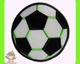Soccer ball applique design