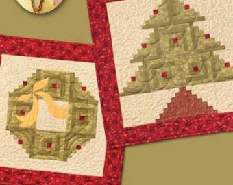 Quilt Pattern Wallhanging Quilt in a Day Eleanor Burns Signature Pattern Holiday Wreath and Tree EB1293