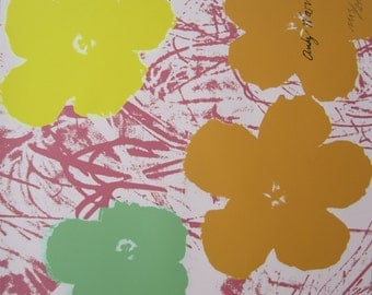 Andy WARHOL lithograph FLOWERS limited edition 1113/2400