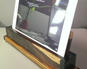 iPad Stand made with Cocobolo, Ebony, and Brass