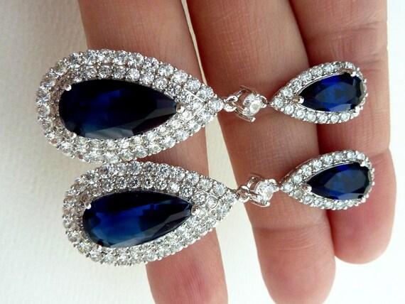 Wedding Earrings Bridal Earrings LARGE Halo by JCBridalJewelry