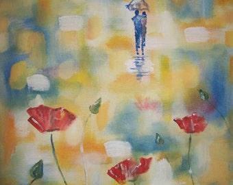 "Original 8x10 Canvas Wall Art ""everlasting Love"""