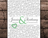 20x30 Engagement or Bridal Gift | PERSONALIZED WEDDING GIFT | Keepsake Autograph Poster | Personalized Guest Book Wedding Poster sign in_02