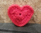 HEART SCRUBBIE Pattern / Double Thickness/ Valentine Heart Scrubbie / Crochet Heart Pattern / Nylon Net Scrubbie Pattern