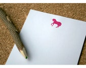 Unicorn Personalized Notepad Vintage Size