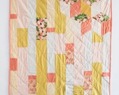 Peach Floral Quilt - In Collaboration with Leah Goren