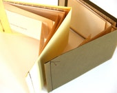 Letter Books, set of 2 - Pale Yellow, and Army Green