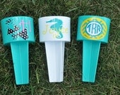 Personalized Beach Spiker/ Assorted Colors/ Seahorse/ Bikini/ Monogram/ Circle Monogram