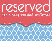 RESERVED order for Nancy