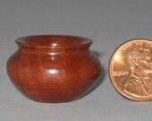 Massaranduba Turned Wood Miniature Vase