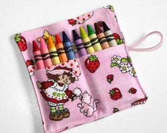 CUSTOM 19 Feb. Party, 10-Strawberry Shortcake & 10-Star Wars Crayon Rolls hold 10 Crayons, Valentine, Birthday Party Favor