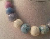 Vintage Multi-Color Hawaiian Stone 15.5in Necklace