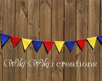 Pennant Garland - 6 feet- Pick your color