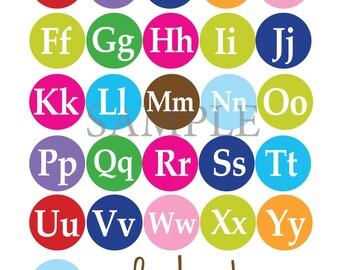 Alphabet  Poster, Capital and Lowercase Letters