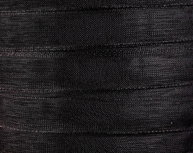 10mm Black organza ribbon - 3/8 Inch Black organza ribbon - 50 yards 150 feet (R015) - Flat rate shipping