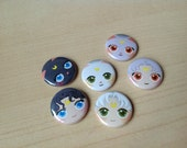 Sailor Moon chats bouton 6-pack