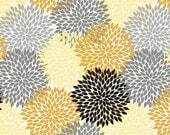 Flowers, Andrea Victoria by Riley Blake, Flowers, Floral Fabric, Gold Fabric, 02078, 02088