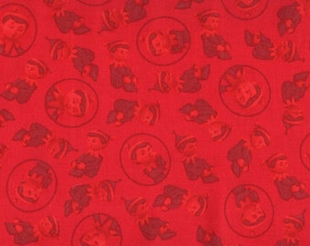 Christmas, Elves, Elf on the Shelf by Quilting Treasures, Elf Fabric, Red Fabric, Christmas Fabric, 01526