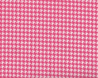 Pink Fabric, Happy HoundsTooth, Pink Fabric, Hot Pink Fabric, Pink Checker Fabric, 1 yard fabric, 01904