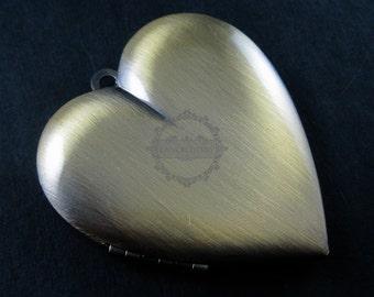wholesale 5pcs vintage brass bronze locket pendant,photo locket,heart locket 1131019