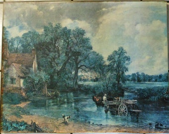 Lithograph  Painting On Canvas Reproduction of The Hay Wain by John Constable