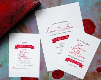 Hand Embossed UNIQUE WEDDING INVITATION