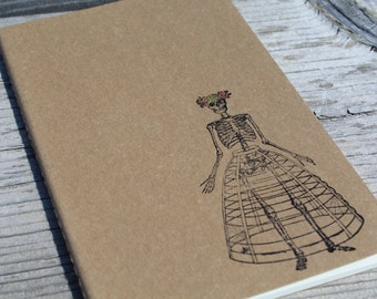 Dia De Los Muertos Skeleton Woman  Journal