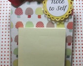 Post it note acrylic holder, Note to self, postit