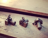 4 Pcs Thick Camera Charms Antique Bronze Large Lens Camera Photography Charm Photo Charm Vintage Style Pendant Charm Jewelry (BD146)