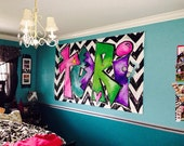 Personalized Painting for Tween Girls Room | Large Canvas Art