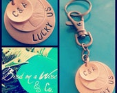 Lucky Keychain (Formerly Lucky Us Key Chain) - Copper - Hand Stamped