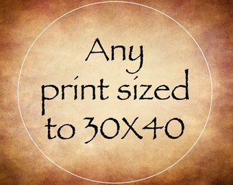 Customer Choice - Any Print - Canvas Gallery Wrap Print - 30X40 theartisangroup