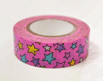 Colorful Stars Japanese Washi Tape Rice Paper Tape Masking Tape - 10m