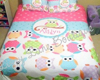 Custom Personalized Monogrammed Duvet OR Comforter SET (Twin, Full/Queen, or King)
