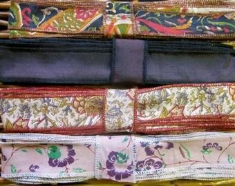 Silk Sari Ribbon, Silk Trim, 4 colors, R52