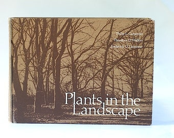 Garden Books Hardcover, Gift For Dad, Plants in the Landscape, Green Book Bundle, Home Decor, Green Hardcover Book Bundle, Tree Experts,