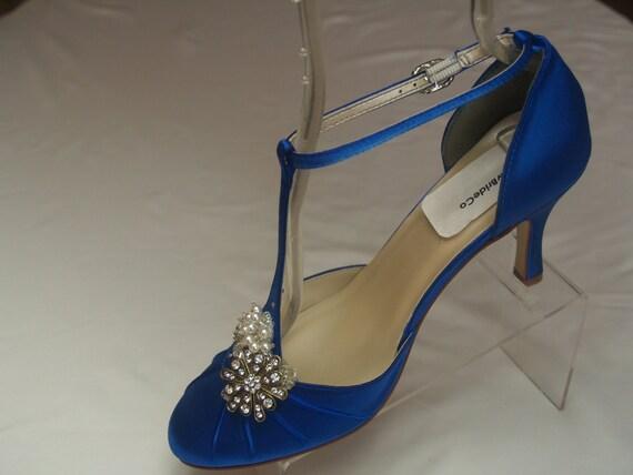 Royal Blue Wedding Heels: Royal Blue Wedding Shoes Vintage Style Brides By NewBrideCo