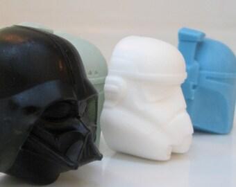 4 Sci-Fi glycerin head soaps