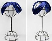 vintage 1940s hat / velvet / Love Knot