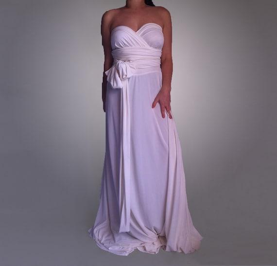 Wedding Infinity Convertible Maxi Dress Boho Wedding Maternity Dress Evening Wrap Dress Multi Way Maxi Plus Size Wedding Made to Measure